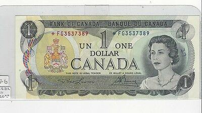 **1973**Canada $1 Note, Lawson/Bouey *FG 3537389  BC-46aA Replacement Note