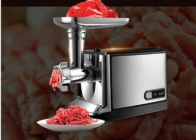 New Small Commercial Electric Stainless Steel Meat Grinder Kitchen Mincer *