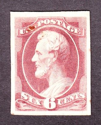US 208P4 6c Lincoln Plate Proof on Card F SCV $60