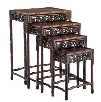 Fine Set Of 4 Early 20Th Century Chinese Rosewood Nesting Tables