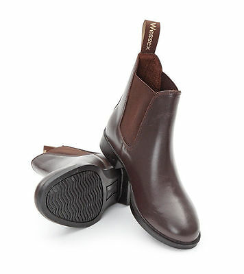 Shires Wessex Leather Jodhpur Boots (Junior/Adult)  BLACK BROWN ON SALE