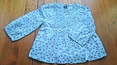 NEW GAP Girl Floral Cotton Blouse Top 12-18 Months
