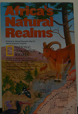 2001 National Geographic Map of Africa's Natural Realms