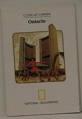 Vintage 1978 National Geographic Map of Ontario