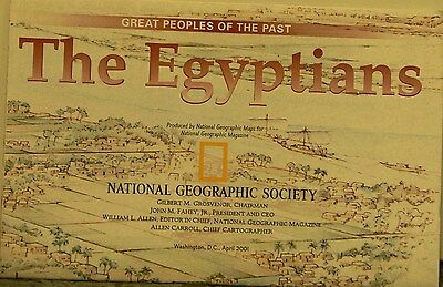 2001 National Geographic Map The Egyptians