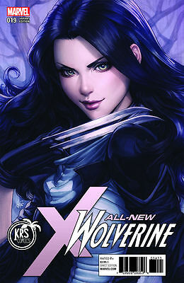 "ALL NEW WOLVERINE #19 KRS Stanley ""Artgerm"" Lau Colour Variant Marvel 1st Print"