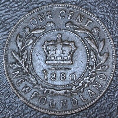 OLD CANADIAN COIN 1880 NEWFOUNDLAND ONE CENT - Victoria - Nice - NCC