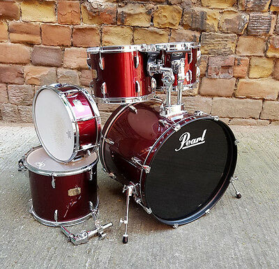 Pearl Export Drum Kit Shell Pack Wine Red USED! RKPKT260117