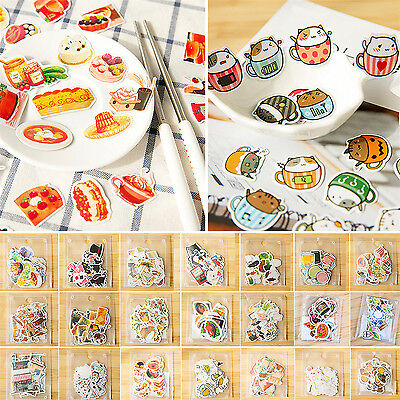 CHIC 40PCS Cartoon Album Scrapbook Diary Planner Card Decor Photo Letter Sticker