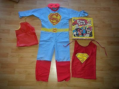 1970's BEN COOPER-SUPERMAN HALLOWEEN COSTUME-Cotton-Boy's 8-10-Boxed-Ships World