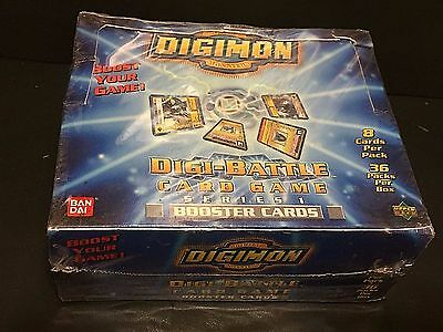 DIGIMON Digi-Battle SERIES 1 Card Game BOOSTER BOX New UD Rare SEALED 36 PACKS