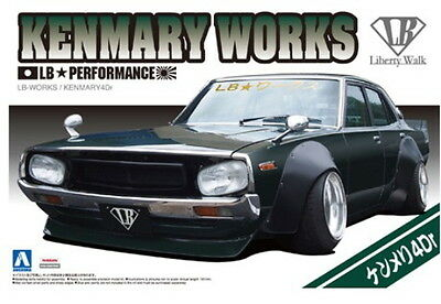 Aoshima Models 1/24 LB Works Ken and Mary 4Door 2015 Version