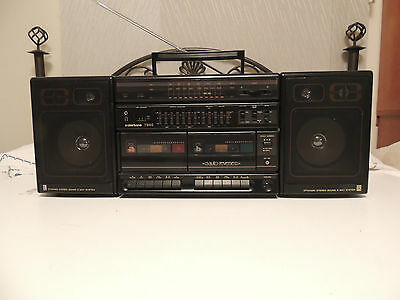 VINTAGE Clairtone AM FM Stereo Radio Dual Cassette Recorder Player Model 7940