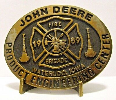 1989 John Deere Waterloo FIRE BRIGADE Product Engineering Center Belt Buckle #17