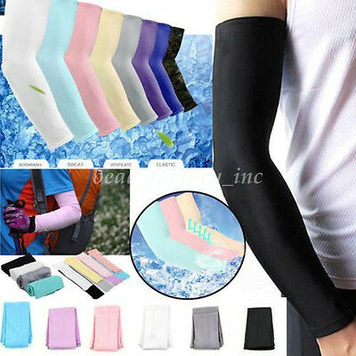1Pair Cool Arm Sleeves Cover UV Sun Protector Basketball Golf Athletic Outsport