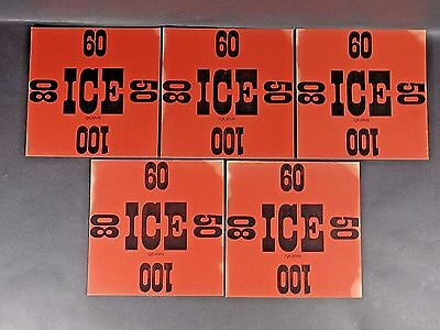 "5 Original Vintage ICE DELIVERY CARDS 9 1/4"" x 9 1/4"" Pre 1945"