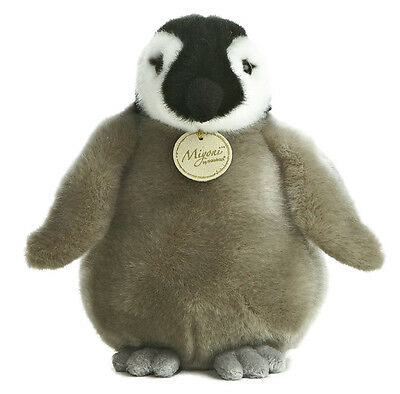 # New AURORA MIYONI Stuffed Plush Toy BABY EMPEROR PENGUIN Animal BEAN FILLED