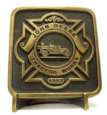 1983 John Deere Tractor Works Waterloo Employee FIRE BRIGADE Belt Buckle 1 of 50