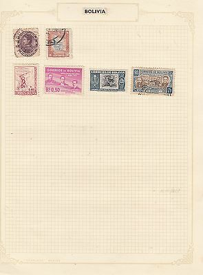BOLIVIA Small Selection  Stamps Good Selection MINT/USED