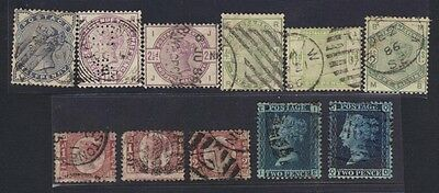 Uk Gb 1883 Queen Victoria Issues 11 Stamps Inc S.g. 187, 188, 190, 192, 194, 196