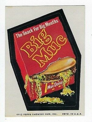 1974 Topps Wacky Packages 7th Series 7 BIG MUC ex+