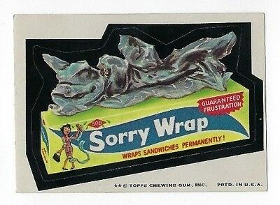 1974 Topps Wacky Packages 7th Series 7 SORRY WRAP ex+ o/c