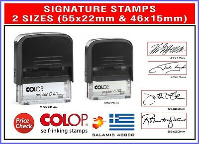 ACCOUNT IS OVERDUE Colop C30   Self Inking Rubber Stamp RED Ink-FREE STAMP