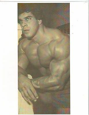 bodybuilder Lou Ferrigno Bodybuilding Relaxed Pose Muscle Photo B&W