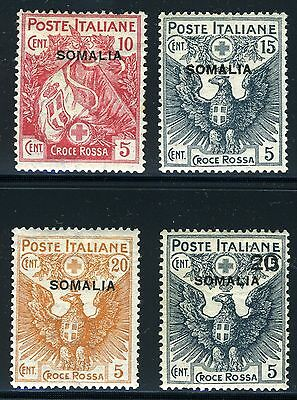 Italy Colony Somalia Scott# B1-4 Red Cross Mint Hinged As Shown