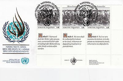 United Nations 1989 Human Rights Series Unadressed(2) FDC