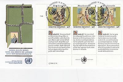 United Nations 1990 Human Rights Series Unadressed(2) FDC