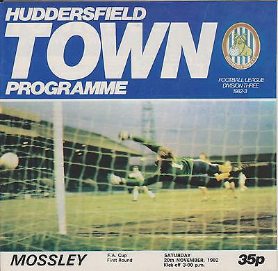 HUDDERSFIELD TOWN v MOSSLEY 82-83 FA CUP MATCH