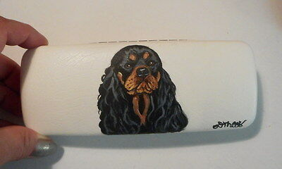 Black and Tan Cavalier King Charles Spaniel Dog Hand Painted Eyeglass case