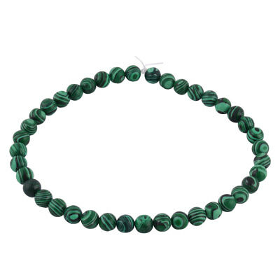 Malachite Grain Pattern DIY Beading Decor Necklace Bracelet Beads Strand 1cm Dia