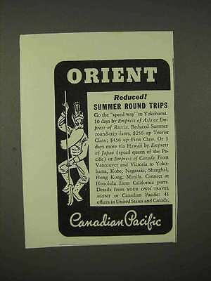 1937 Canadian Pacific Cruise Ad