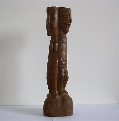 Ancienne sculpture africaine statue bois Dogon ? colon art colonial Nommo