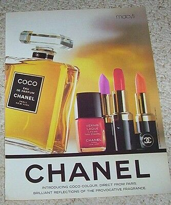 1988 print ad page -Chanel Beauty Cosmetics Coco perfume clipping vintage ADVERT