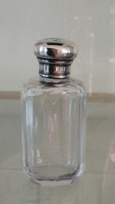 Fine Antique Mappin Bros Faceted Silver Topped Crystal Cut Glass Bottle C 1897
