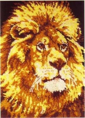His Majesty Lion Rug Chart The Craft Collection Ltd    76 * 100 Cms