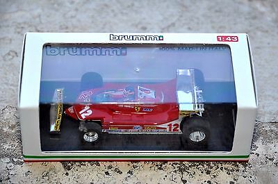 FERRARI 312 T4 Gilles Villeneuve G.P. Monaco 1979 1:43 BRUMM 27 Collection