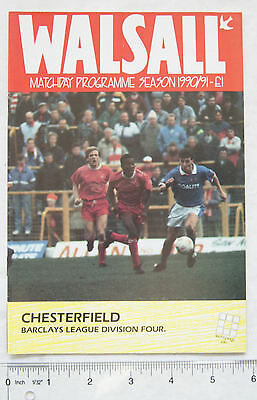 1991 programme Walsall v. Chesterfield