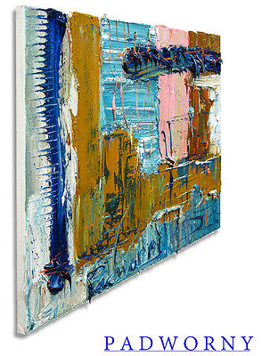 Modern Expressionism Art Signed█Realism Oil Deco A Painting Abstract Pointillism