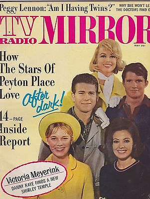 MARCH 1966 TV RADIO MIRROR vintage movie magazine JACKIE KENNEDY