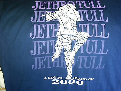 """Vintage JETHRO TULL  concert tee shirt 2000 Tour """"A Leg To Stand On"""""""