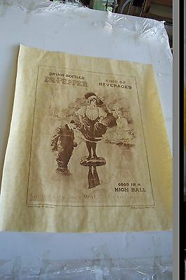Repro of  very early  Dr Pepper Advertisement Poster 18 x 24