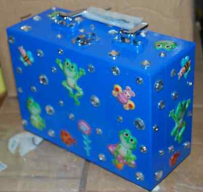 I TOAD YOU SO Frog Wood Box Purse THAT'S CRAZY! Hand Bag Made USA Butterfly