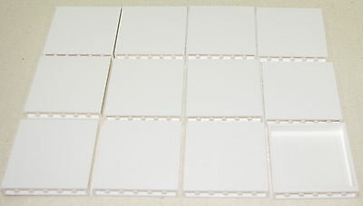 Lego Lot Of 12 New White Panels Walls Castle Town Building City 1 X 6 X 5 Parts