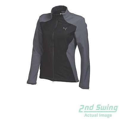 New Womens Puma Warm Cell Stretch Fill Golf Jacket SM Black/Gray 569083 MSRP$110