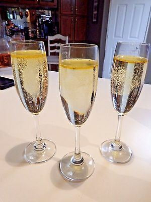 Realistic Life Size Faux Artificial Fake Food: Flute Glass of Champagne lot of 3