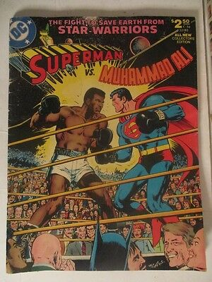 SUPERMAN vs MUHAMMAD ALI 1978 1st Print, Oversized/Treasury Adams Art C-56 fair